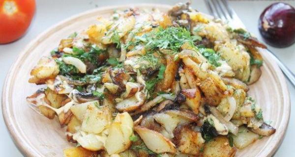 Картошка с грибами вешенками жареная на сковороде. Как приготовить, рецепты пошагово с фото