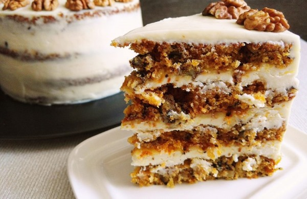 Морковный торт. Рецепт классический английский, американский, от Энди Шефа, Юлии Высоцкой, со сметанным кремом