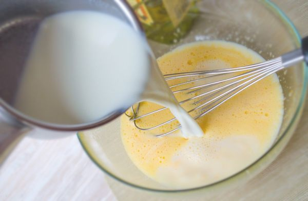 Блины на молоке тонкие с дырочками, заварные, ажурные. Рецепт пошагово с фото
