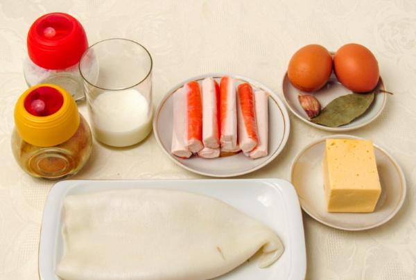 Кальмар фаршированный. Рецепты простые, вкусные в духовке, мультиварке пошагово