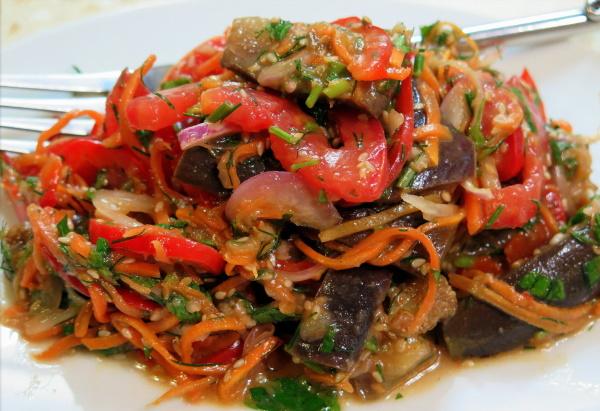 Синенькие по-корейски быстрого приготовления. Рецепты на зиму, салаты, маринованные, фаршированные, жареные