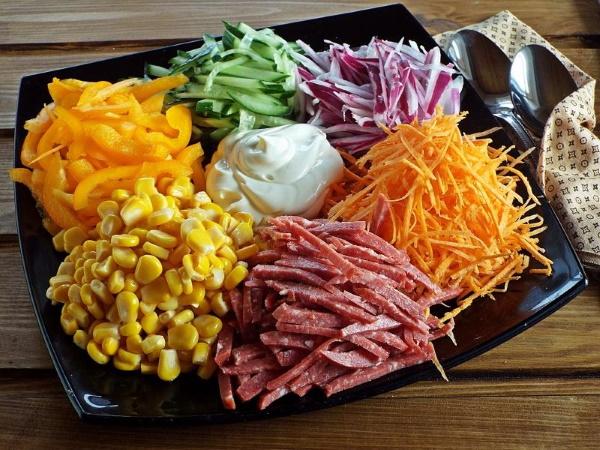 Салат Чафан. Пошаговый рецепт с фото классический с курицей, говядиной, корейской морковкой, маринованными овощами