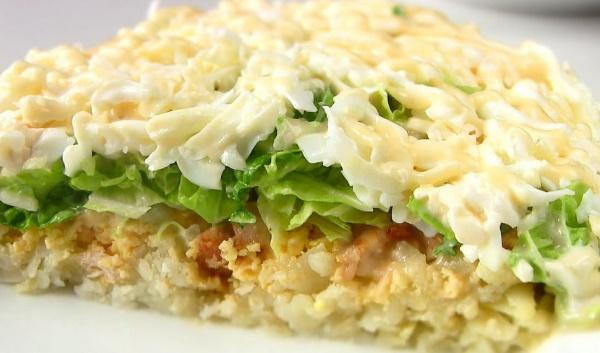 Салат Невеста. Рецепт с копченой курицей классический, плавленным сыром, свеклой, капустой, грибами