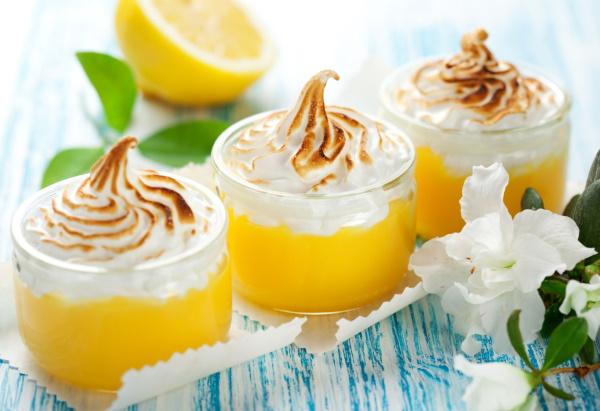 Лимонный курд. Классический рецепт с желатином, меренгой, крахмалом, сливками от Энди Шефа, Джейми Оливера, Юлии Смолл. Фото