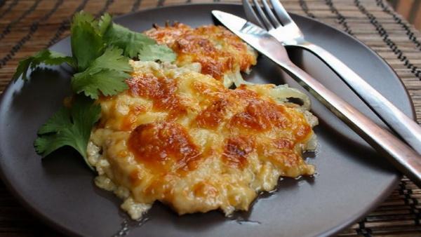 Мясо по-французски с картошкой и фаршем в духовке. Рецепт