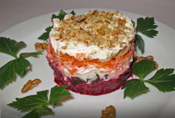 Салат из вареных овощей. Рецепты без майонеза, с йогуртом, мясом, маслом, курицей слоями