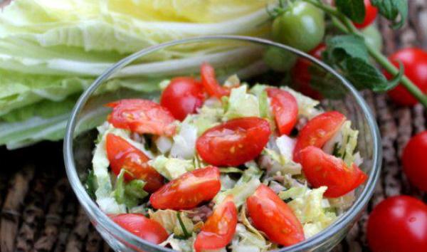 Салат с креветками и пекинской капустой. Рецепты с фото