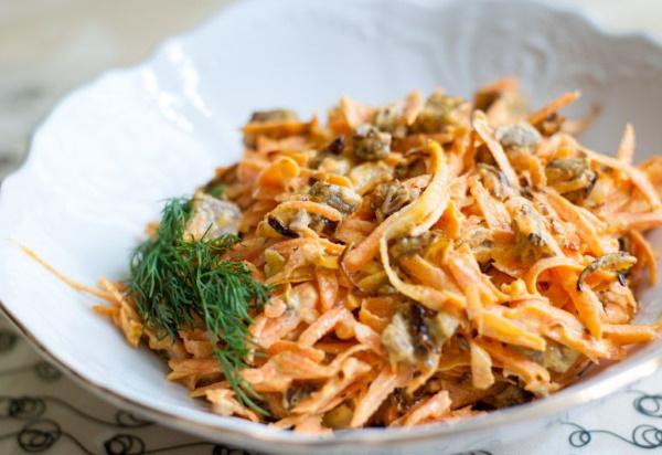 Салат с редькой и морковью. Рецепты с майонезом, яблоком, яйцом