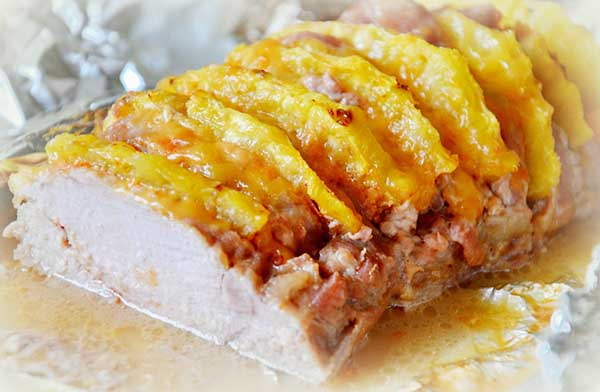 Гармошка из свинины в духовке в фольге. Пошаговый рецепт с фото