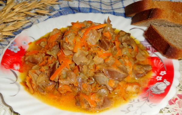 Куриные желудки в мультиварке. Рецепты приготовления со сметаной, картошкой, гречкой, соевым соусом