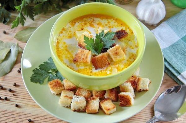 Сливочный суп с курицей и плавленым сыром. Рецепт с грибами, картошкой, рисом, сливками