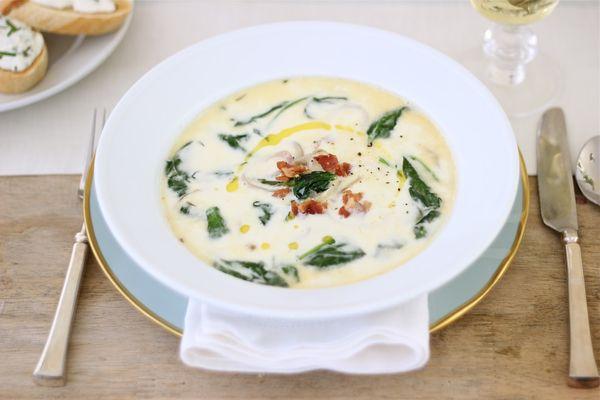 Суп со шпинатом на курином бульоне, говяжьем, постный. Рецепты с фото