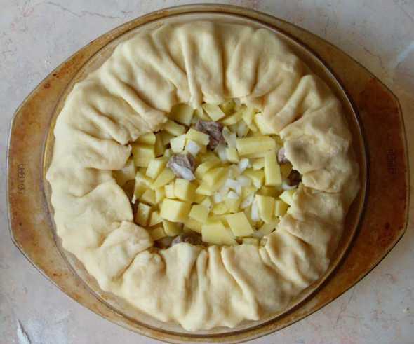 Тесто на балиш (бэлиш, бэлеш) по-татарски на кефире, сметане, маргарине, майонезе, подсолнечном масле