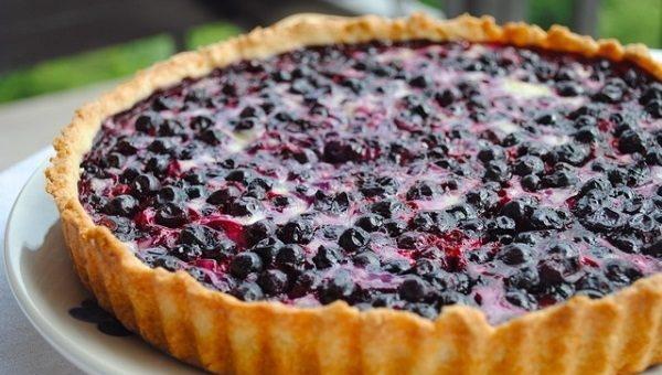 Заливной пирог с ягодами и сметаной, творогом, сгущенкой, на кефире, молоке, песочном тесте в духовке, мультиварке