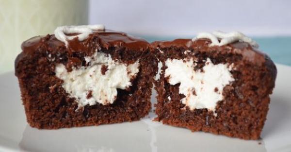 Шоколадные кексы в силиконовых формочках. Рецепт с фото в духовке, микроволновке