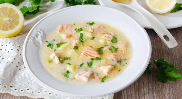 Суп из форели с плавленым сыром. Рецепт в мультиварке со сливками, молоком, брокколи, рисом