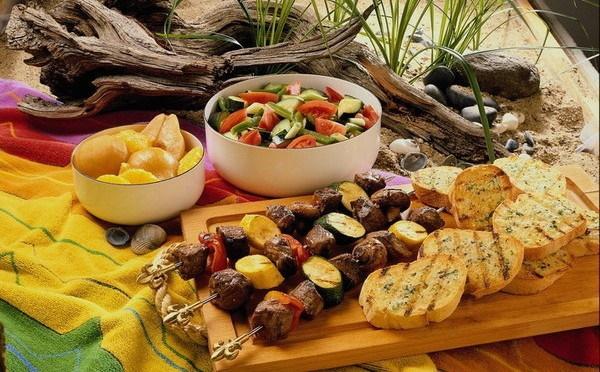 Закуски к шашлыку на природе летом, зимой. Рецепты с фото простые и вкусные