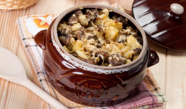 курица со сметаной и грибами в духовке