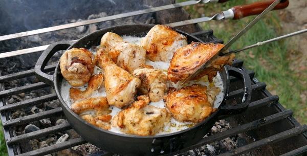 Курица в молоке на сковороде, в мультиварке, духовке. Рецепт по-грузински, узбекски без варки