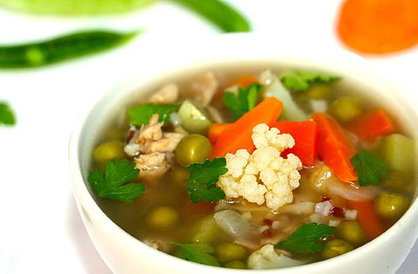 Суп из цветной капусты. Рецепт с курицей, брокколи, сливками на бульоне, постного, диетического