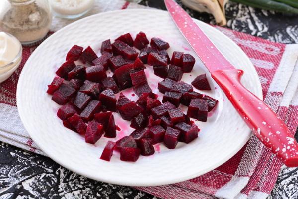 Винегрет без капусты. Рецепт приготовления с солеными огурцами, фасолью, яблоком, горошком