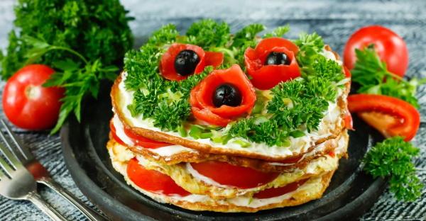 Закусочные торты на праздничный стол. Рецепты с фото
