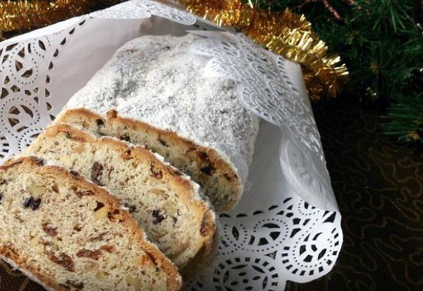 Штоллен немецкий кекс. Рецепт классический, дрезденский творожный, с марципаном, дрожжами