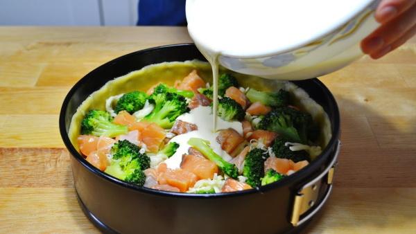 Пирог Киш с рыбой и брокколи. Рецепт с фото