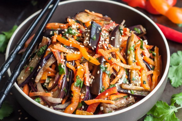 Баклажаны по-корейски. Рецепт на зиму быстро и вкусно