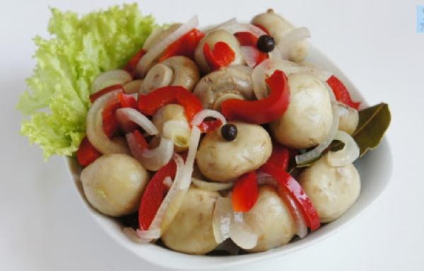 Маринованные грибы шампиньоны. Рецепты быстрого приготовления