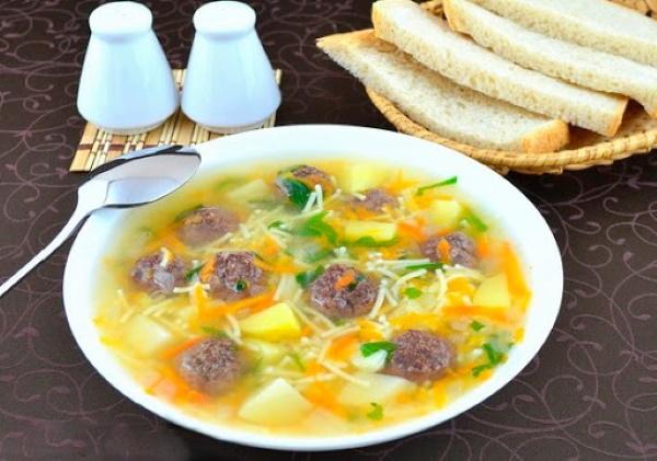 Суп с фрикадельками. Рецепт с фото классический