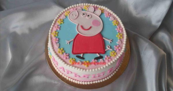 Торт Свинка Пеппа. Фото для девочки