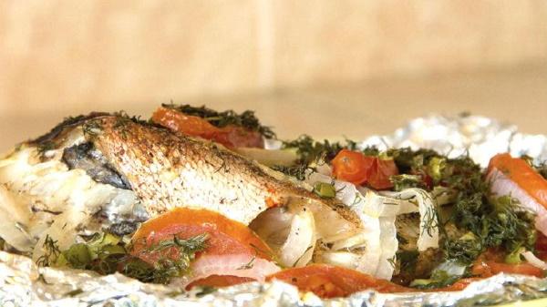 Филе морского окуня на сковороде, в духовке. Рецепт