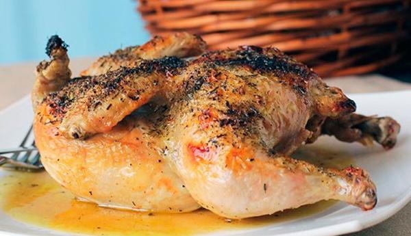 Курица-гриль в духовке без вертела. Рецепт с фото