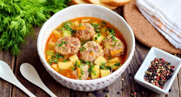 Суп с тефтелями. Рецепты с фото