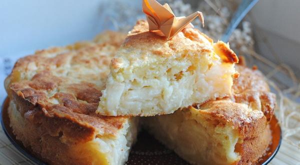 Творожный пирог с яблоками в духовке. Рецепт с фото